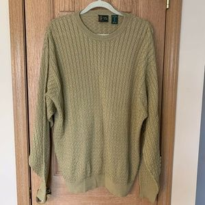 Bobby Jones Sweater Size XL Cable Knit 100% Cotton